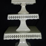 "Off White Square Cake / Cupcake Stand 8"" 10"" & 12"""
