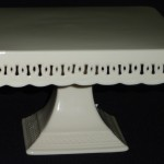 "Off White Square Cake Stand 8"" 10"" & 12"""
